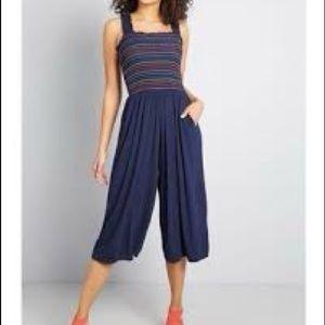 ModCloth rainbow stripe jumpsuit